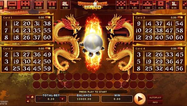 เกม Burning Pearl Bingo
